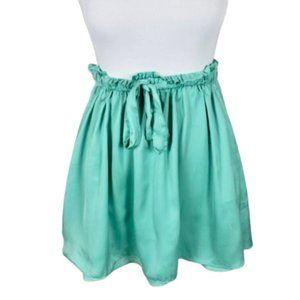 Talula Green Tie Waist Mini Skirt